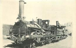Thème Train Machine N°90 Troyes-Preize Vers 1900 Locomotives De L'est CP Ed. H.M.P. N° 147 Locomotive Vapeur - Trains