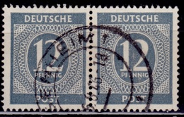 Germany, 1946, Numeral Of Value, 12pf, Sc#539, Used - American/British Zone