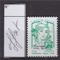 = Marianne Et La Jeunesse Ciappa Kawena Multi-impressions Lettre Verte -20g N°4774bd Offset Surchargé Neuf - 2013-... Marianne De Ciappa-Kawena