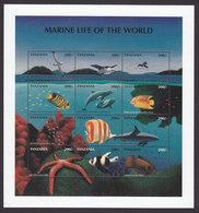 Tanzania, Scott #1668, Mint Never Hinged, Marine Life, Issued 1998 - Tanzania (1964-...)
