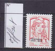 = Marianne Et La Jeunesse Ciappa Kawena Multi-impressions Lettre Prioritaire N° 4767bd Offset Surchargé Neuf - 2013-... Marianne De Ciappa-Kawena