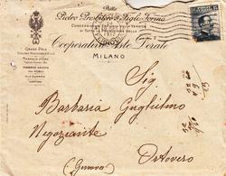 Storia Postale-Regno-Pubblicità Pietro Presbitero&Figli-Torino-Cooperativa Aste Dorate-Vitt.Eman:III Val.15 Cent. - Posta