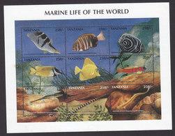 Tanzania, Scott #1669-1670, Mint Hinged, Marine Life, Issued 1998 - Tanzania (1964-...)