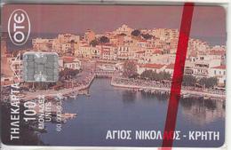 GREECE - Aghios Nikolaos/Crete, Tirage 60000, 03/96, Mint - Greece