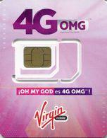 Lote TT231, Colombia, Tarjeta Telefonica, Phone Card, Virgin, SIM Prepago, Prepaid, Mint, 4G OMG - Colombia