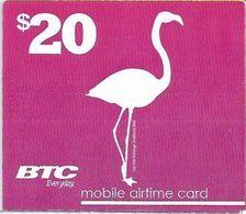 BAHAMAS : BTC Recharge BTC White Logo (WITH Text Airtime Card)   $20 MARLIN  Exp : 22/DEC/2017 - Bahamas