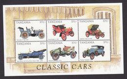 Tanzania, Scott #1680-1681, Mint Never Hinged, Classic Cars, Issued 1998 - Tanzania (1964-...)