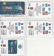GREECE - Set Of 5 Cards, National Bank, Tirage 34000, 08/98, Mint - Greece