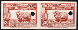 PERU 1936 - Wool Industry At Puno Farm, Imperforated Waterlow Proof, Mint NH - Farm