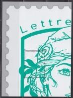 Bloc Gommé Neuf Marianne Et La Jeunesse Lettre Verte Offert Par Phil@poste Sans Valeur Faciale Représentant 1/4 Timbre - Blocs & Feuillets