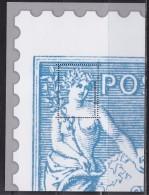 = Bloc Gommé Neuf Type Sage Phil@poste Sans Valeur Faciale Soit 1/4 Timbre - Sheetlets