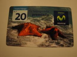 1 Remote Phonecard From Venezuela - Movistar - Undersea Life - Venezuela