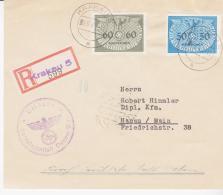 POLAND ( GENERAL GOVERMENT  )-1940 - REG CENSORED EXPLODED COVER FROM KRAKOW TO HIMMLER - 1939-44: World War Two