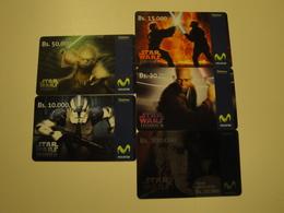 5 Remote Phonecards From Venezuela - Movistar - Star Wars - Venezuela