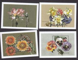 Tanzania, Scott #1687-1690, Mint Never Hinged, Exotic Flowers, Issued 1998 - Tanzania (1964-...)