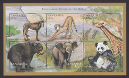 Tanzania, Scott #1692, Mint Never Hinged, Endangered Animals, Issued 1998 - Tanzania (1964-...)