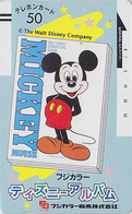 Télécarte Ancienne NEUVE Japon / 110-20011 - DISNEY - MICKEY MOUSE - Japan MINT Front Bar Phonecard - Disney