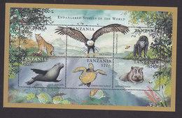 Tanzania, Scott #1693, Mint Never Hinged, Endangered Animals, Issued 1998 - Tanzania (1964-...)