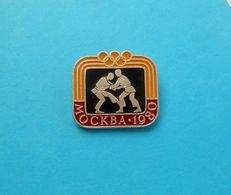 JUDO - Olympic Games 1980 ... Vintage Pin Badge Anstecknadel Distintivo Abzeichen Spilla Martial Arts - Sports De Combat