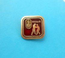 JUDO - Olympic Games 1980 ... Vintage Pin Badge Anstecknadel Distintivo Abzeichen Spilla Martial Arts - Martial Arts