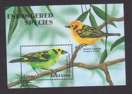 Tanzania, Scott #1694, Mint Never Hinged, Endangered Animals, Issued 1998 - Tanzania (1964-...)