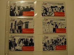 6 Magnetic Phonecards From Venezuela - Cantv - History - Venezuela