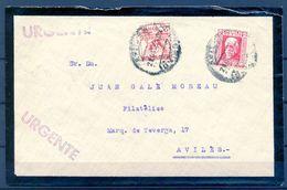 1933 , ASTURIAS , AVILÉS, INTERIOR,  CORREO URGENTE , PEGASO ED. 676 , PERSONAJES - 1931-50 Storia Postale