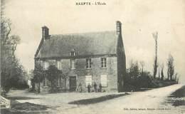 """CPA FRANCE 50 """"Baupte, L'Ecole"""" - Autres Communes"""