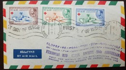 O) 1955 ETHIOPIA, ETHIOPIAN RED CROSS FOR SURCHARGES SEE  -PRINCESS TSAHAI AT A SICKBED-HUMANITARINA WORK,SCOTT A62, FDC - Ethiopia