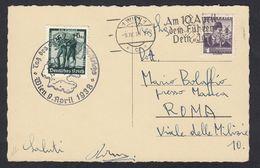AUSTRIA -  OSTERREICH - 1938 - Cartolina Con Francobollo Tedesco Yvert 605 Con Timbro FDC - Varietà & Curiosità