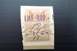NETHERLAND INDIES : PLAKZEGEL 15 Cent, NON OVPT On Fragment (4.7.2602) - Netherlands Indies