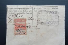 NETHERLAND INDIES : DAI NIPPON PLAKSEGEL 15 Sen, On Fragment (2602) - Nederlands-Indië