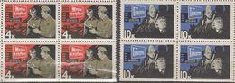 USSR Russia 1966 Block Film Scenes Hamlet The Quick And The Dead World War WW2 ART Cinema Military Stamps MNH Mi 3190-91 - Cinema