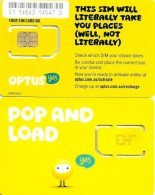 """AUSTRALIA GSM MOBILE """"OPTUS """" YELLOW """"POP & LOAD"""" CHIP WITH SMALL SQUARE IN THE MIDDLE TYPE MINT READ DESCRIPTION !!! - Australia"""