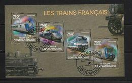 CENTRAFRIQUE 2014  TRAINS  (CTO)   YVERT N°  OBLITERE - Trains