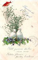 Souvenir Du 1er Avril - Poisson - Colombe - Herbe Véritable - Petit Poisson Dis-lui Mon Nom - Petites Fleurs Portez... - 1er Avril - Poisson D'avril