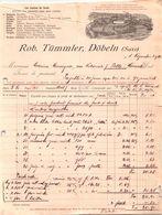 Document Du 01/11/1912 ROB. TÜMMLER - Döbeln (Saxe) - Allemagne - Germania