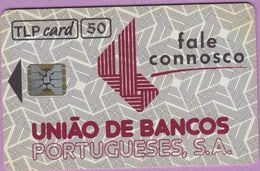 Télécarte Portugal °° 50 - Bancos - Fale Connosco - Sc5 - 04-92 - RV P81  **  TBE  Bom Estado - Portugal