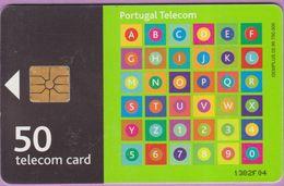 Télécarte Portugal °° 50 - Alphabet Vert - Gem - 02-99 - RV 1382   ***   LUXE  De Luxo - Portugal
