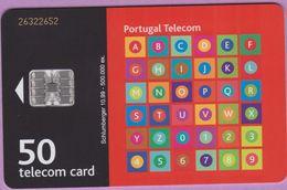 Télécarte Portugal °° 50 - Alphabet Orange - Sc7 - 10-99 - RV 2652   ***   LUXE  De Luxo - Portugal