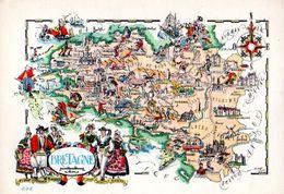 Carte Geographique De Bretagne  CPM Ou CPSM - France