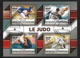 CENTRAFRIQUE 2016 JUDO  (CTO)   YVERT N°  OBLITERE - Judo