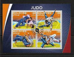 MALDIVES 2016  JUDO  (CTO)   YVERT N°  OBLITERE - Judo