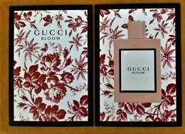 NEW GUCCI BLOOM PATCH POSTCARD PERFUMEE CARTE AUSTRALIE - Cartes Parfumées
