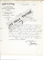 88 - Vosges - BAINS-LES-BAINS - Facture BOYON - Hôtel De La Poste - 1917 - REF 86C - Francia