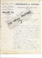 88 - Vosges - BULGNEVILLE - Facture GUILLAUME - Vêtements, Toiles, Draperie, Rouennerie - 1917 - REF 86C - Francia