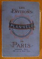 PLAN-VELO En Tissu - Les Environs De Paris (fin XIX° - Début XX°) - Maps