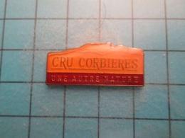 Pin512g2 Pin's Pins : Rare Et Belle Qualité :  VIN ROUGE CRU CORBIERES UNE AUTRE NATURE  , Marquage Au Dos : - ----  - - Beverages