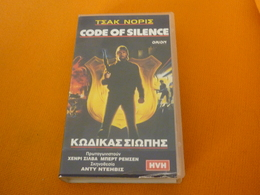 Code Of Silence Chuck Norris Old Greek Vhs Cassette Tape From Greece - Action, Adventure