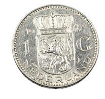 1 Gulden - Hollande - 1957 - Argent - TtB - - [ 3] 1815-… : Kingdom Of The Netherlands